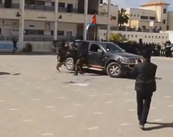 Abducting an Israeli soldier and forcing him into a car