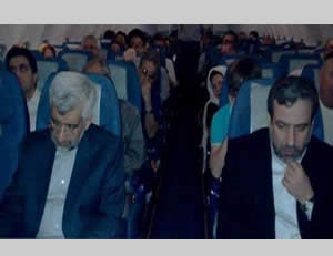Jalili flies tourist class (www.facebook.com/Dr.Saeed.Jalili)