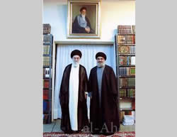 Hassan Nasrallah meets with Khamenei in Tehran (Hezbollah website, April 15, 2013).