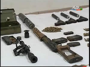Weapons transferred to an Azeri terrorist cell handled by Iran.