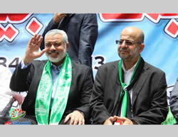 Ismail Haniya at the opening ceremony of the summer camps in western Gaza City