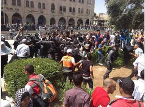Confrontations between Palestinians and Israeli police forces in east Jerusalem