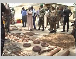 Some of the weapons uncovered in the northern Nigerian city of Kano