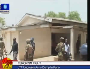 The house in Kano where the weapons were found