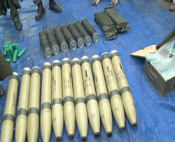Nigerian security forces discover the weapons on board.