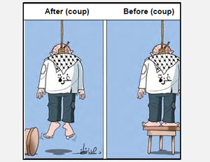The situation in the Gaza Strip before and after the recent coup in Egypt  (Ajnad Facebook page, July 6, 2013).