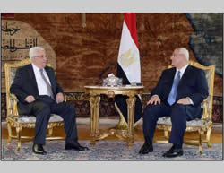 Mahmoud Abbas meets interim Egyptian President Adly Mansour (Wafa News Agency, July 29, 2013)