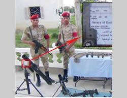 Egyptian army forces display weapons seized in Sinai. According to military sources, the weapons seized were meant for the military wing of the PIJ in the Gaza Strip