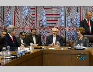 Fereydoun (to the left of Foreign Minister Zarif) at the meeting of foreign ministers in New York