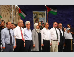 European diplomats at the Eighth Bil'in International Conference for Popular Resistance