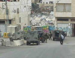 The Border Police post in Hebron attacked with a Molotov cocktail (Photo by Yerah Rap, Tazpit News Agency, December 29, 2013).