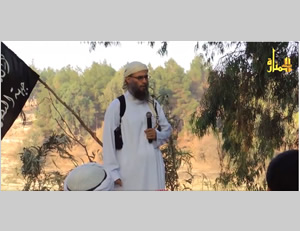 Sami al-Uraydi preaching in praise of jihad before Al-Nusra Front operatives (http://www.dailymotion.com)