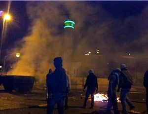 Confrontations between Palestinians and the Israeli security forces on the Temple Mount