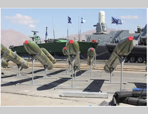 Weapons found aboard the Klos-C bound for the Gaza Strip.