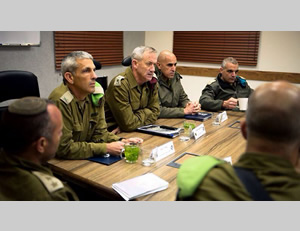 The IDF staff meets to appreciate the situation (IDF Spokesman, March 12, 2014).
