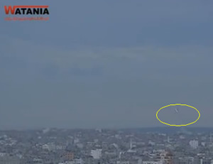 Rocket fire into Israeli territory from within a populated area in Gaza  (Wataniya TV, March 12, 2014).