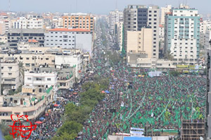 The rally in Gaza City (Hamas forum website, March 23, 2014).