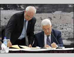 The Israeli-Palestinian negotiations in crisis: Mahmoud Abbas signs a PA request to join international agencies and conventions