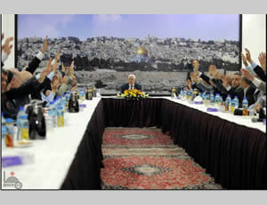 The Palestinian leadership votes unanimously to join international agencies and conventions (Wafa News Agency, April 1, 2014).