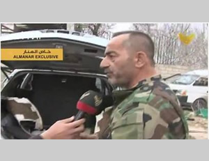 A Syrian officer tells an Al-Manar correspondent about a booby-trapped car found in Yabrud in a workshop for car bombs (Al-Manar, March 18, 2014).