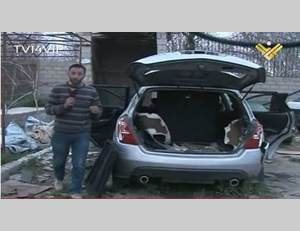 An Al-Manar correspondent reports from the workshop in Yabrud where the car bombs were made (Al-Manar, March 18, 2014).