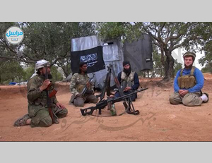 Moner Mohammad Abusalha with Al-Nusra Front operatives in photos uploaded to jihadist websites