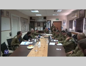 The Israeli Chief of Staff holds a meeting to assess the situation (IDF Spokesman, June 14, 2014).