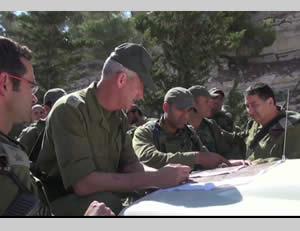 The Israeli Chief of Staff with the forces on the ground.