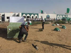 Semi-military training and the simulation of the abduction of Israeli soldiers held at a Hamas summer camp in Khan Yunis