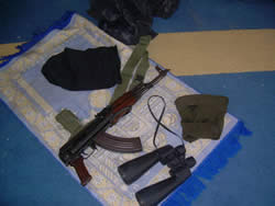 Arms, ammunition and military equipment found during Operation Cast Lead in the mosque in Al-Atatra, in the northern Gaza Strip