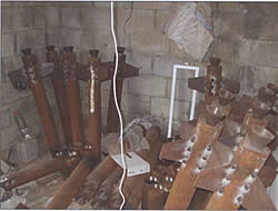 Store of rockets, seized by the IDF in a mosque in the Zeitun neighborhood of Gaza City