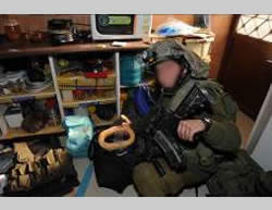 Weapons discovered in the house of a Hamas terrorist operative