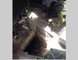 Tunnel shafts exposed (IDF Spokesman, July 19, 2014).