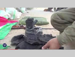 Weapons and uniforms exposed by the IDF in the Gaza Strip (IDF Spokesman, July 27, 2014)