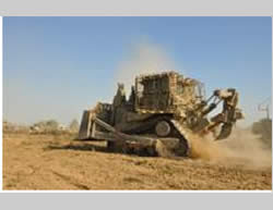 Heavy equipment for the destruction of tunnels (IDF Spokesman, July 27, 2014)