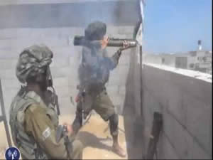 IDF soldiers operating inside the Gaza Strip (IDF Spokesman, July 28, 2014)