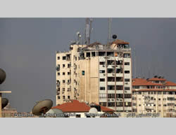 Hamas' Al-Aqsa TV building.