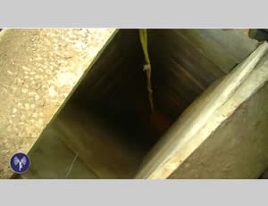 Tunnel shaft (IDF Spokesman, July 29, 2014)