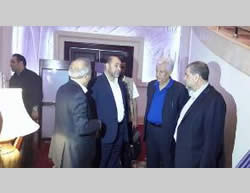 Members of the Palestinian delegation in Cairo (PNN TV, August 3, 2014)