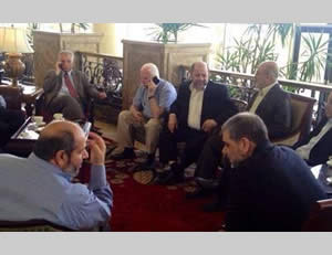 The Palestinian delegation in Cairo (Paltimes.net, August 10, 2014)