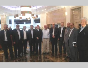 The Palestinian delegation to the negotiations in Cairo (Quds.net, August 19, 2014).