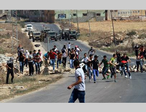 Clashes between Palestinians and Israeli security forces at the roadblock near Beit Furik, east of Nablus (Wafa.ps, August 15, 2014).