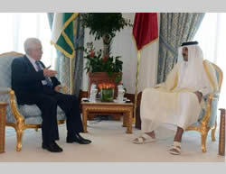 : Mahmoud Abbas meets the Emir of Qatar, Tamim bin Hamed the second (Wafa.ps, August 23 and 24, 2014)