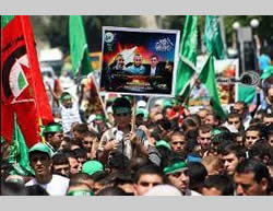 Demonstration in Nablus (Ghaza al-A'an, August 23, 2014)