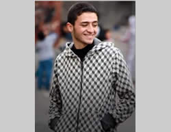 Anas Yusuf Qandil, 17, an operative in the Palestinian Islamic Jihad's Jerusalem Brigades.
