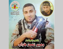 Wassim Nasr Shurab, brother of Iyad Nasr Shurab, 22, PIJ Al-Quds Battalions operative. Killed in Khan Yunis, July 26, 2014, along with his brother (elderofziyon.blogspot.com).
