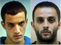 The two terrorists Ghassan and Uday Abu Jaml, who carried out the mass-murder attack at the synagogue (Facebook page of Qudsn, November 18, 2014)