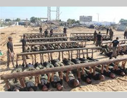 The eight officers' training course, currently being held in the Gaza Strip (Website of the national security apparatus, November 21, 2014).
