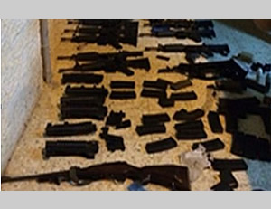 Some of the weapons found in the possession of the Hamas terrorist network exposed in Judea and Samaria (Shabak.gov.il, August 18, 2014).