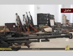 Weapons captured by ISIS in the province of Al-Anbar (Al-Anbar unit website, December 13, 2014)